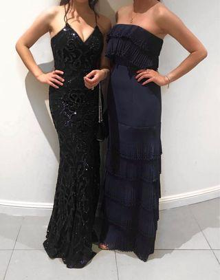 Bariano Farah Strappy Sequin Dress