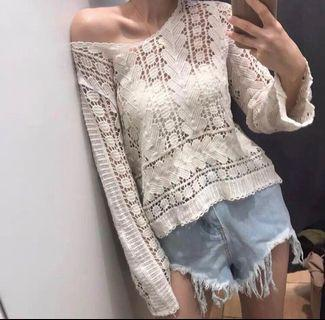 BN Crochet Lace knit pullover