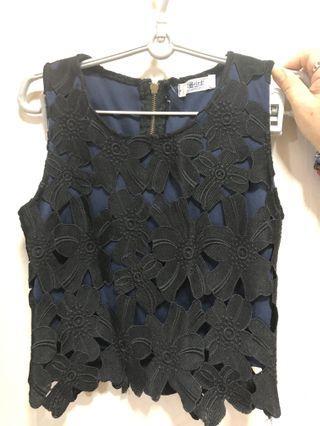 Blade crochet sleeveless top
