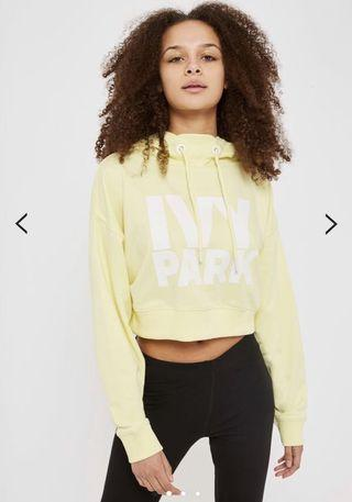 Ivy park yellow cropped hoodie