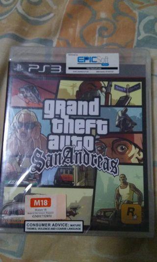 🚚 PS3 GTA San andreas sealed