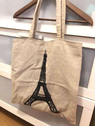 🚚 Canvas Tote Bag Eiffel Tower