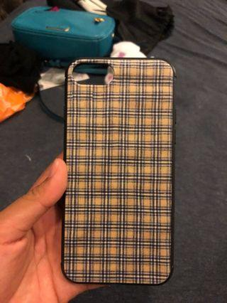 Brandy Melville yellow and blue plaid phone case new!!