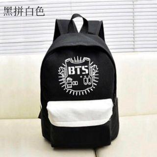 BTS Backpack Black & White