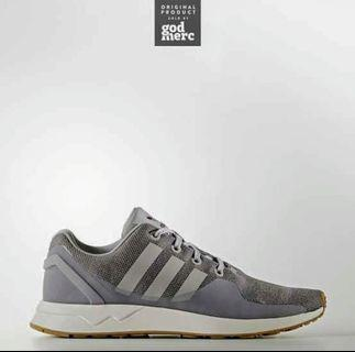 #Mauthr Adidas Original Zx Flux Tech Navy Woman Grey White