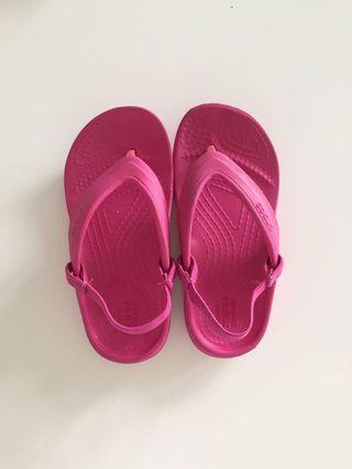 Crocs Pink Sandal with extra shoe