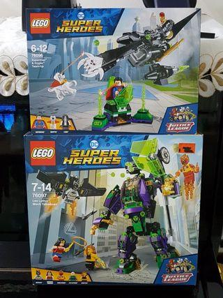 Lego DC Super Heroes 76096 + 76097 Justice League MISB