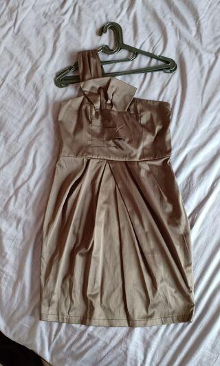 Mididress beige/coffee color