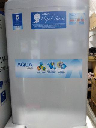 Mesin cuci aqua 7.5kg bisa di cicil perbulan