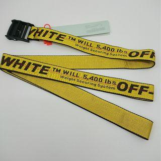 #CLEARANCE# Off White Yellow Industrial Belt - Black Buckle