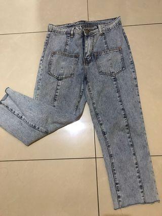 Celana jeans kantong depan