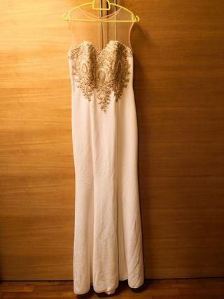 Ivory mermaid evening dress