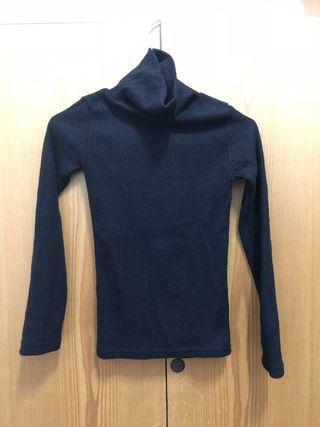 【全新】高領針織毛衣(黑)
