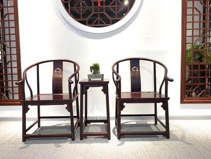 小葉紫檀圈椅