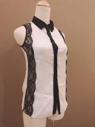 Semi Lace white Top / Formal white top #GayaRaya