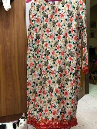 Baju Kurung Silk Sulam