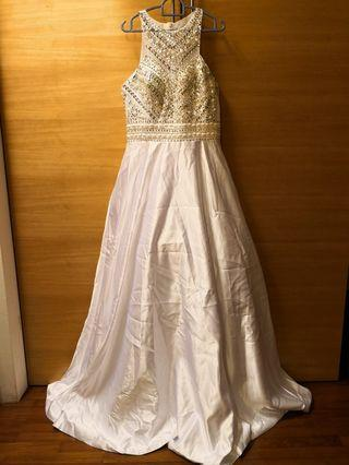 Luxury wedding dinner gown