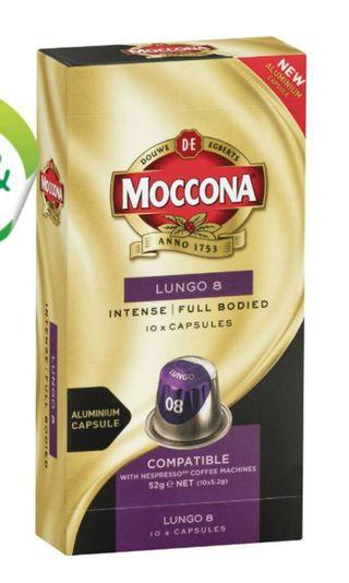 Moccona Lungo 8 coffee capsules咖啡粒-10粒裝 (澳洲代購)