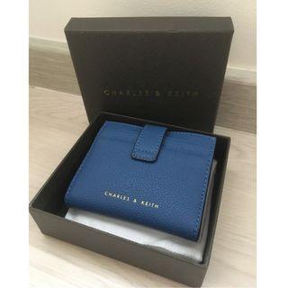 Snap Button Card Holder / Wallet (Women) - Blue