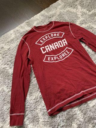 Roots Red Sweater (size: S-M)