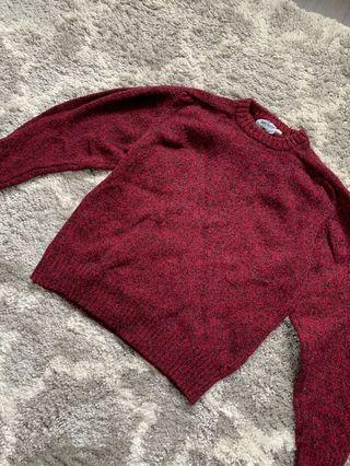 Maroon Sweater (size: S-M)