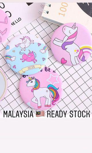 Unicorn Mini Pocket Mirror - ready stock