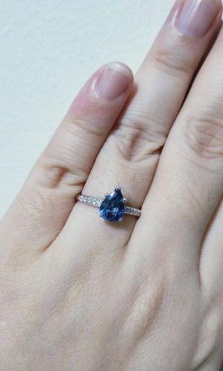 1.21ct Blue Sapphire Ring Auction
