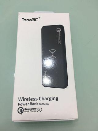 無線充電移動電源 Wireless Charge Power Bank 8000mah