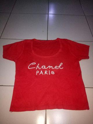 Crop top chanel rajut