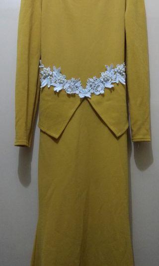 YELLOW Baju Kurung Moden (FREE POSTAGE) #GayaRaya
