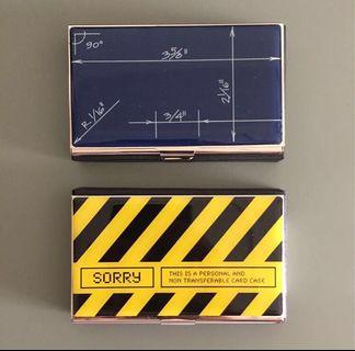 Acme metallic business card case / holder