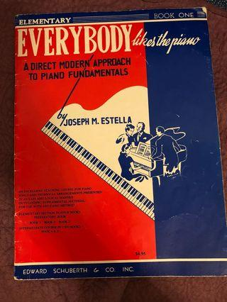 Everybody like the piano book one