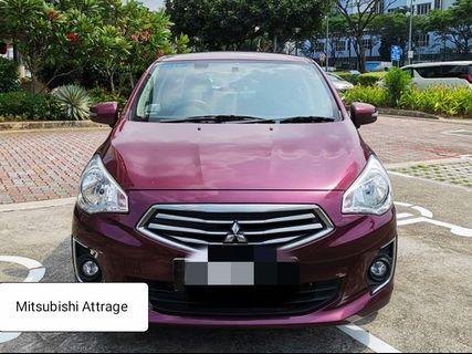 Oct 16 Mitsubishi Attrage for Rent