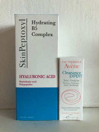 SkinPeptoxyl Hyaluronic Acid (with free Avène Soin- Emulsion, for spots and blackheads)