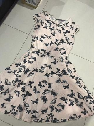 Butterfly pink dress (Dorothy Perkins)