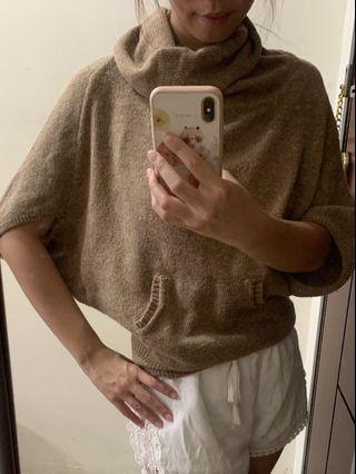 🚚 翻領飛鼠袖毛衣