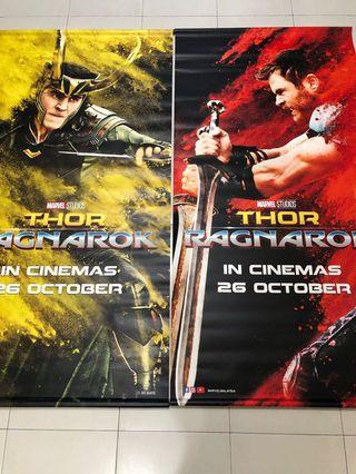 🔥Thor & Loki : THOR RAGNAROK🔥Authentic Movie Poster / Standee Panel- Marvel Cinematic Universe Standee Scroll Panel Poster # Avengers #Engame- (Big size poster :180cm X 90cm each) 🔥