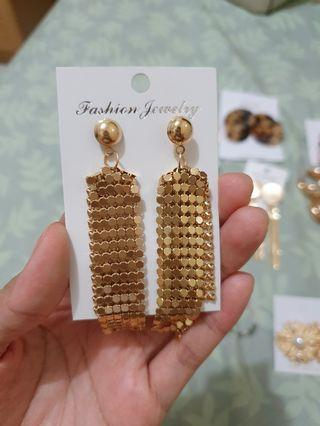 Gold Long Earrings