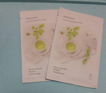 Masker Innisfree Green Tea Sheetmask #bapau