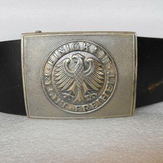 Vintage West Germany Army Military Leather Belt