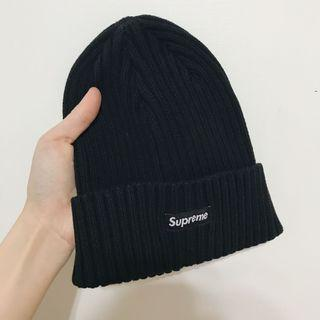 🚚 Supreme黑色毛帽