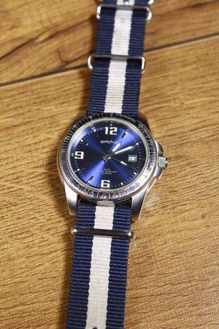 Watch up by GASSAN blue face watch