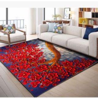 40cmx60cm carpet red floral tree Yu