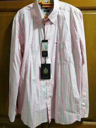 BNWT Tommy hilfiger long sleeve pink shirt size M
