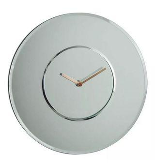 Frameless mirror wall clock