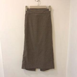 背心/格紋中長裙