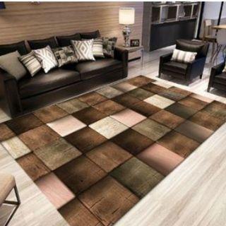 40cmx60cm carpet Brown square Yu