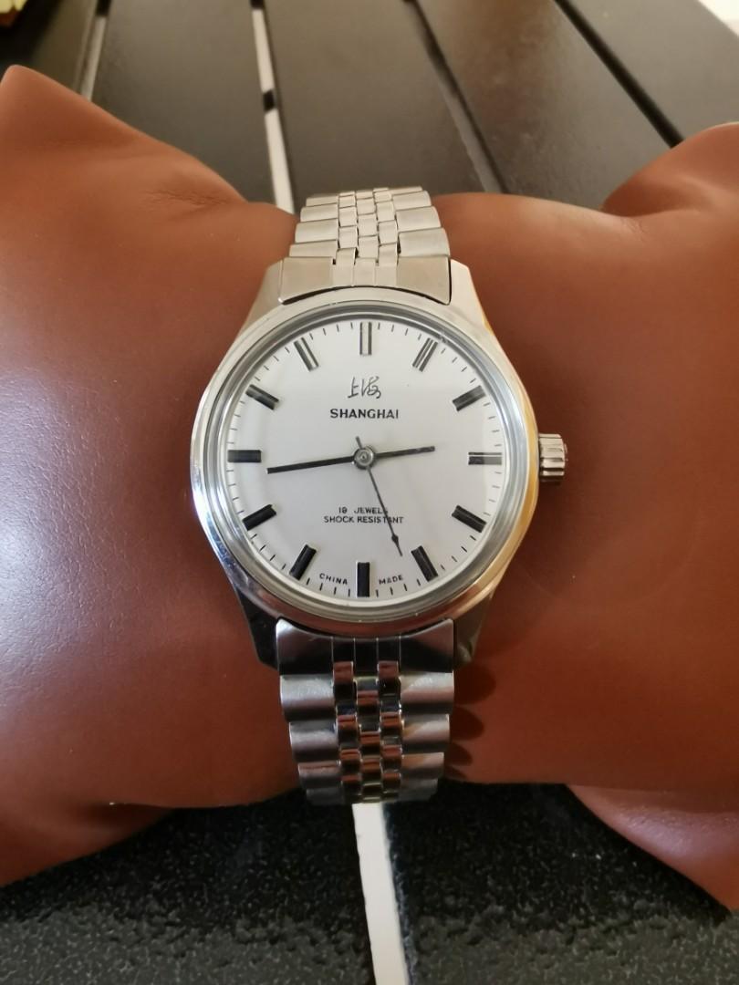 上海牌手動上鏈古董手錶