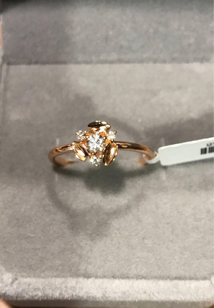韓國設計現代感鑽石戒指