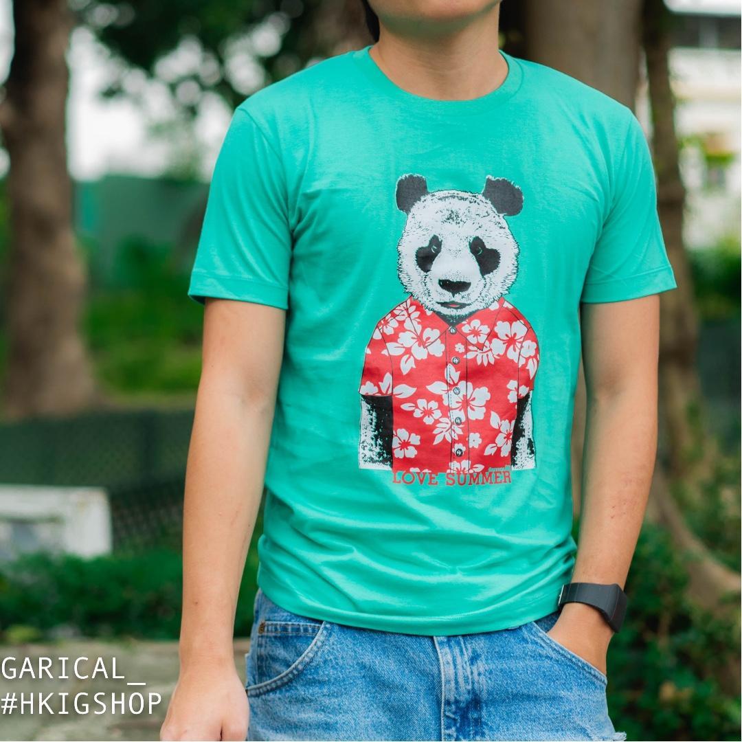 夏日熊貓 T-SHIRT